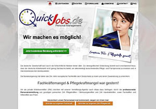 Webseiten ReLaunch www.QuickJobs.de (2015)